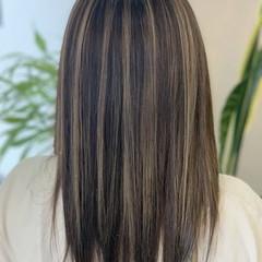 ハイライト コントラストハイライト ミルクティカラー ミルクティーベージュ ヘアスタイルや髪型の写真・画像