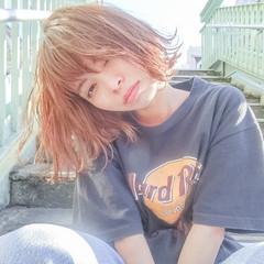 ボブ 外国人風 ストリート ハイライト ヘアスタイルや髪型の写真・画像