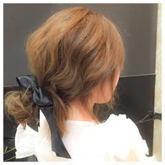 ポニーテール 時短 ヘアアレンジ 簡単ヘアアレンジ ヘアスタイルや髪型の写真・画像