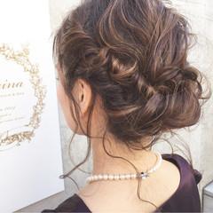 ヘアアレンジ ロング コンサバ 結婚式 ヘアスタイルや髪型の写真・画像