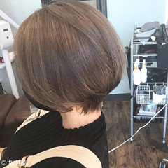 ボブ 大人ヘアスタイル ショートボブ ナチュラル ヘアスタイルや髪型の写真・画像