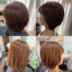ショートヘア ゆるふわパーマ ショート ミニボブ ヘアスタイルや髪型の写真・画像