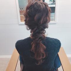 アンニュイ セミロング ヘアアレンジ 女子会 ヘアスタイルや髪型の写真・画像