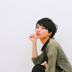 ショート モード 小顔 大人女子 ヘアスタイルや髪型の写真・画像