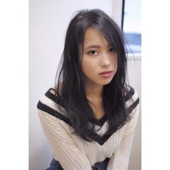女子会 モード ロング 黒髪 ヘアスタイルや髪型の写真・画像