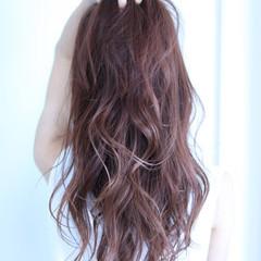 おフェロ ストリート レッド ロング ヘアスタイルや髪型の写真・画像