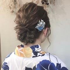 ドライフラワー ヘアアレンジ 花火大会 浴衣ヘア ヘアスタイルや髪型の写真・画像