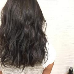 アッシュ ストリート ハイライト グラデーションカラー ヘアスタイルや髪型の写真・画像