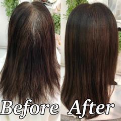 髪質改善トリートメント 髪質改善 ナチュラル セミロング ヘアスタイルや髪型の写真・画像