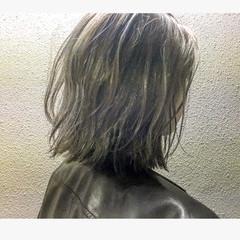 外ハネ こなれ感 ボブ ゆるふわ ヘアスタイルや髪型の写真・画像