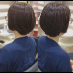 ショート 社会人の味方 髪質改善トリートメント 髪質改善カラー ヘアスタイルや髪型の写真・画像