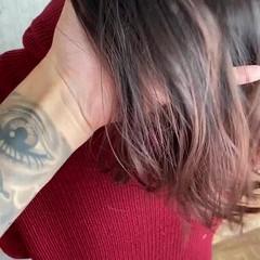 バレイヤージュ グラデーションカラー ナチュラル ロング ヘアスタイルや髪型の写真・画像