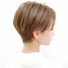 ハンサムショート デート オフィス ショートボブ ヘアスタイルや髪型の写真・画像