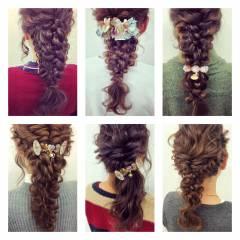 簡単ヘアアレンジ ゆるふわ ルーズ フェミニン ヘアスタイルや髪型の写真・画像