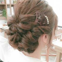 セミロング 簡単ヘアアレンジ 和装 ヘアアレンジ ヘアスタイルや髪型の写真・画像