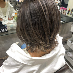外国人風カラー バレイヤージュ ナチュラル ベージュ ヘアスタイルや髪型の写真・画像