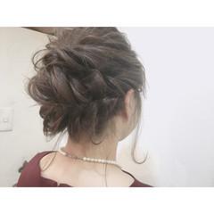 ブライダル ヘアアレンジ 結婚式 ミディアム ヘアスタイルや髪型の写真・画像