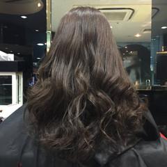 アッシュ ロング モード マット ヘアスタイルや髪型の写真・画像
