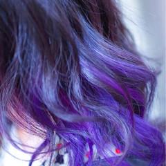 バレイヤージュ 外国人風カラー ボブ ストリート ヘアスタイルや髪型の写真・画像