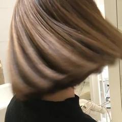 3Dカラー ハイライト 外国人風カラー ボブ ヘアスタイルや髪型の写真・画像