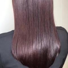 デート ストレート セミロング ナチュラル ヘアスタイルや髪型の写真・画像