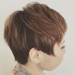キュート ハイライト ショート モード ヘアスタイルや髪型の写真・画像
