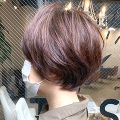 アンニュイほつれヘア ショート ナチュラル デート ヘアスタイルや髪型の写真・画像