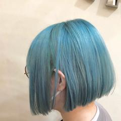 ハイライト ハイトーンボブ インナーカラー ハイトーンカラー ヘアスタイルや髪型の写真・画像