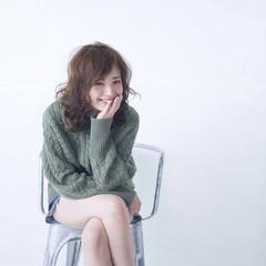ミディアム 渋谷系 大人かわいい ナチュラル ヘアスタイルや髪型の写真・画像