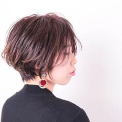 ハイライト 小顔 ボブ 暗髪 ヘアスタイルや髪型の写真・画像