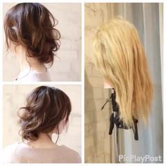 ヘアアレンジ セミロング ショート アッシュ ヘアスタイルや髪型の写真・画像