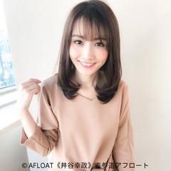 ミディアム バレンタイン モテ髪 ナチュラル ヘアスタイルや髪型の写真・画像