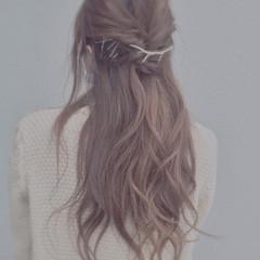 ゆるふわ セルフヘアアレンジ ヘアアレンジ ヘアピン ヘアスタイルや髪型の写真・画像