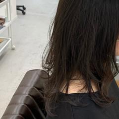 デジタルパーマ 毛先パーマ ワンカールパーマ ミディアム ヘアスタイルや髪型の写真・画像