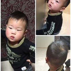 ストリート 子供 ボーイッシュ メンズ ヘアスタイルや髪型の写真・画像