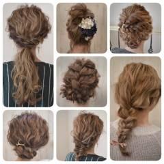 コンサバ フェミニン ヘアアレンジ ゆるふわ ヘアスタイルや髪型の写真・画像