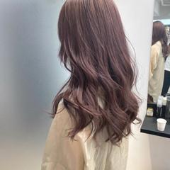 ピンクアッシュ ダブルカラー ロング インナーカラー ヘアスタイルや髪型の写真・画像