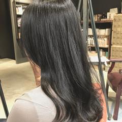 透明感カラー ラベージュ ナチュラル セミロング ヘアスタイルや髪型の写真・画像