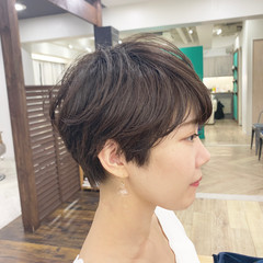 前髪あり ショート 丸みショート ショートヘア ヘアスタイルや髪型の写真・画像