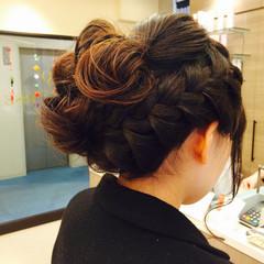 ヘアアレンジ ロング まとめ髪 結婚式 ヘアスタイルや髪型の写真・画像