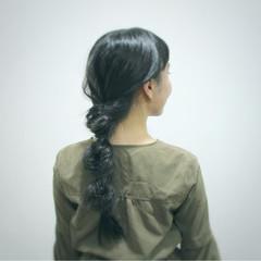 デート ガーリー フィッシュボーン ロング ヘアスタイルや髪型の写真・画像