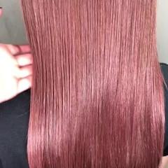 ラベンダーピンク ガーリー スポーツ ピンク ヘアスタイルや髪型の写真・画像