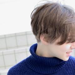 色気 冬 ショート ナチュラル ヘアスタイルや髪型の写真・画像