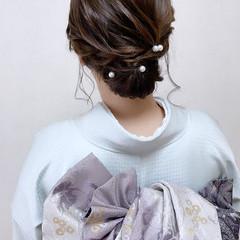 ミディアム 和装ヘア エレガント 着物 ヘアスタイルや髪型の写真・画像