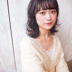 モテ髪 デート ミディアム ナチュラル ヘアスタイルや髪型の写真・画像