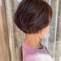 丸みショート 横顔美人 ショートボブ ショートヘア ヘアスタイルや髪型の写真・画像