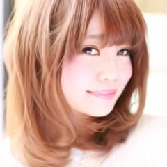 モテ髪 ミディアム ナチュラル 愛され ヘアスタイルや髪型の写真・画像