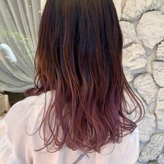 ピンクラベンダー ヘアカラー ピンクアッシュ ブリーチカラー ヘアスタイルや髪型の写真・画像