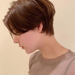 ナチュラル ニュアンスヘア ハンサムショート ショートヘア ヘアスタイルや髪型の写真・画像