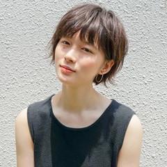 小顔 透明感 似合わせ ショート ヘアスタイルや髪型の写真・画像